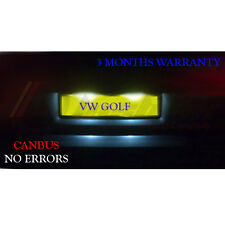 VW Golf Mk4 Mk5 5 V TDI SDI License / Number Plate LED Light Bulbs - Xenon White