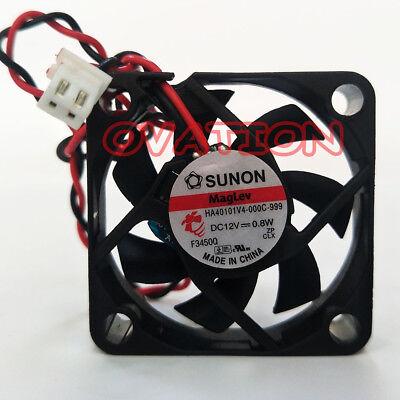 Original SUNON HA40101V4-000C-999 DC12V 0.8W 40*40*10mm 2wire fan #MA51 QL