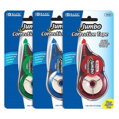 "12pk Jumbo Correction Tape 5mm x 10M 1//5/"" x 10.9yrd #1630 US FAST FREE SHIPPING"