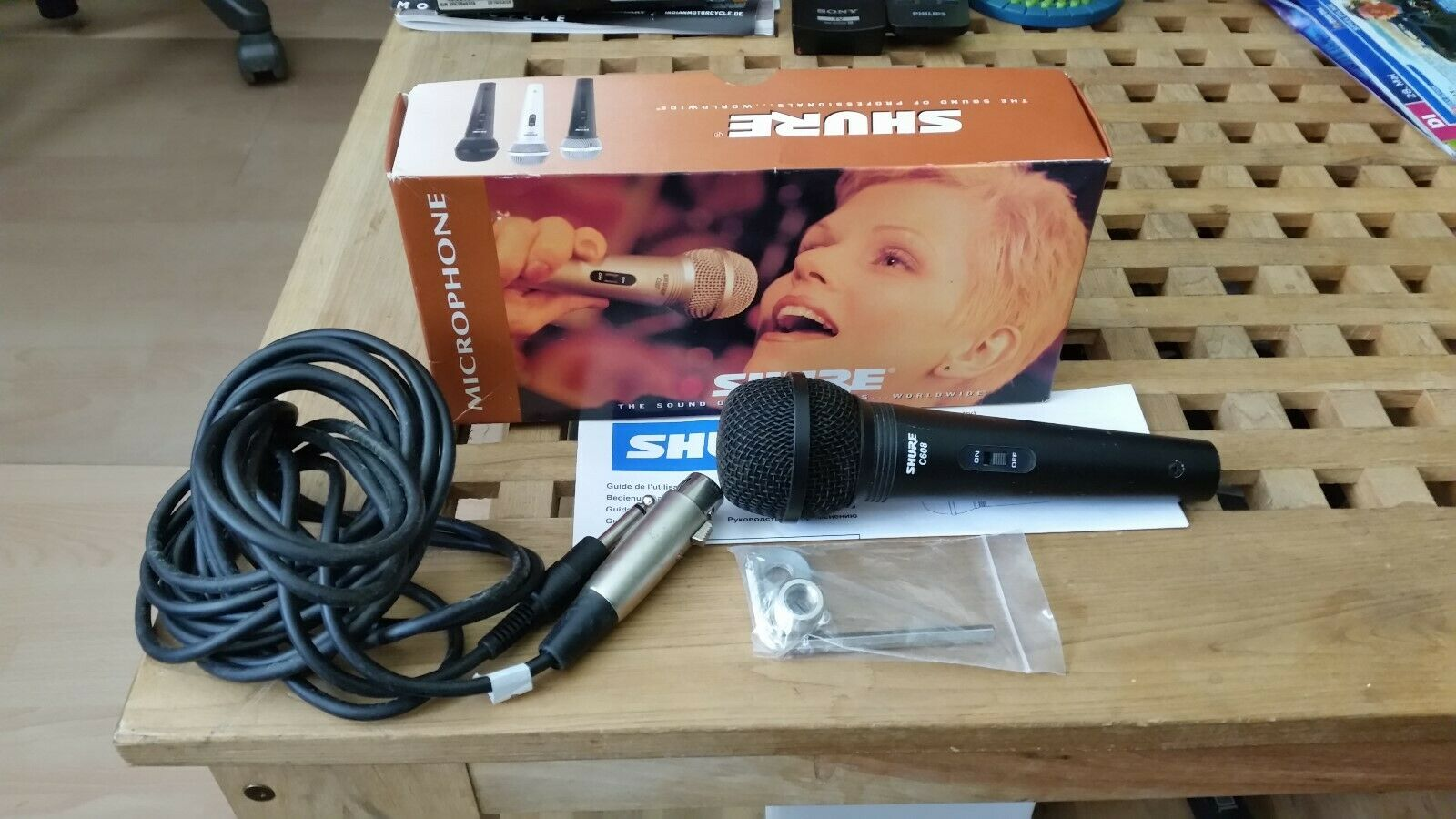 Mikrofon Shure C 608 N schwarz mit on  off Switch