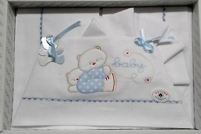 Devoted Completo Lenzuola Bambino Lettino Culla Batuffolini Cotone Art.b203 Dis.645 C Other Bedding