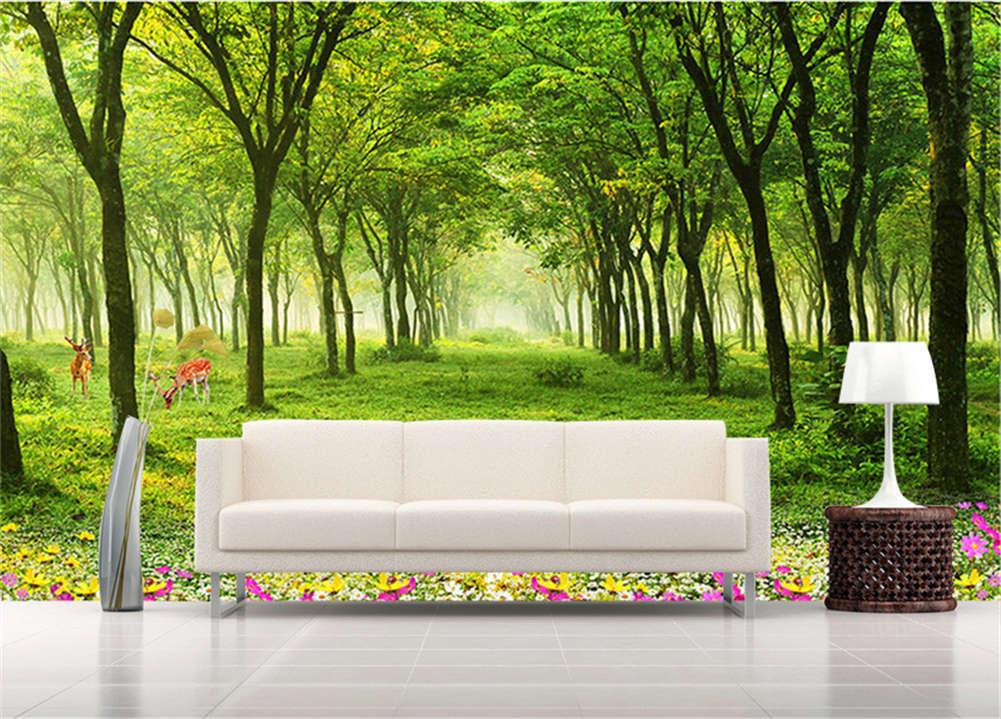 Verdant Frugal Woods 3D Full Wall Mural Photo Wallpaper Printing Home Kids Decor