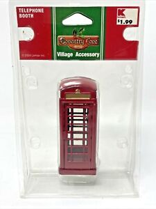 New Lemax Coventry Cove Village Accessories Telephone Booth 2004 Rare