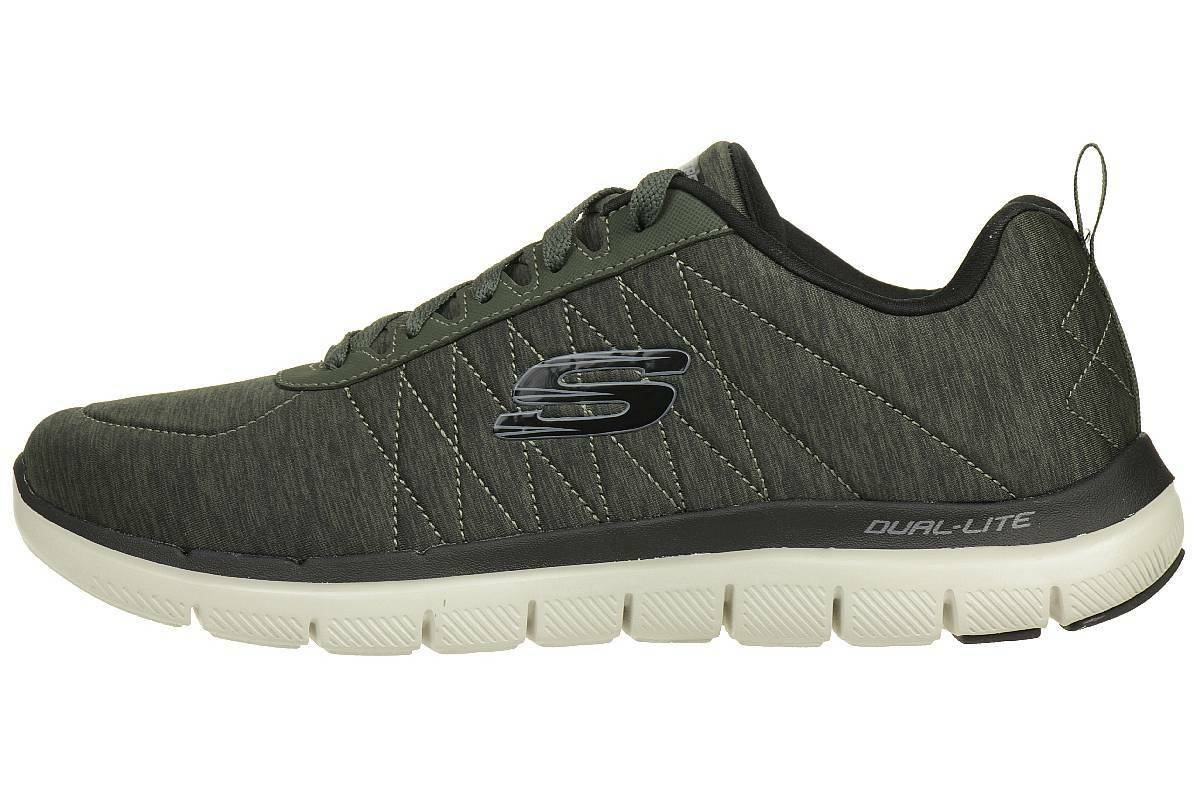 Skechers Skech Flex Advantage Fitness 2.0 Chillston Herren Sneaker Fitness Advantage Schuhe olive 2d4b98