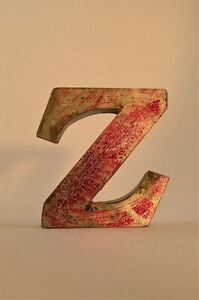 FANTASTIC-RETRO-VINTAGE-STYLE-RED-3D-METAL-SHOP-SIGN-LETTER-Z-ADVERTISING-FONT