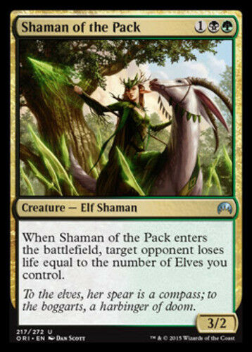 4x Shaman of the Pack NM-Mint English Magic Origins MTG Magic