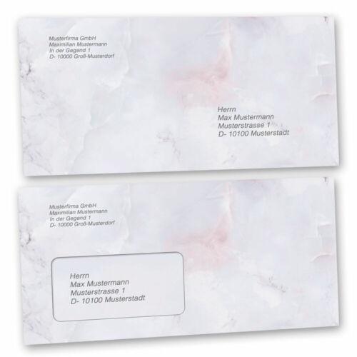 ohne Fenster 10 Stück C6 Briefumschläge MARMOR FLIEDER
