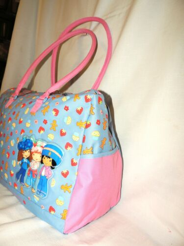 STRAWBERRY SHORTCAKE TRAVEL DUFFLE BAG,TOTE BAG DANCE FREE COIN BAG 14X19X8