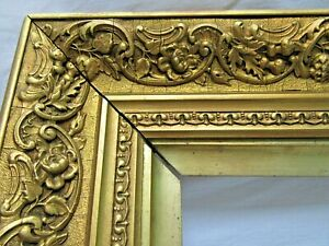 ANTIQUE-FITS-14-75-034-X-19-25-034-GOLD-GILT-ORNATE-WOOD-FRAME-FINE-ART-VICTORIAN