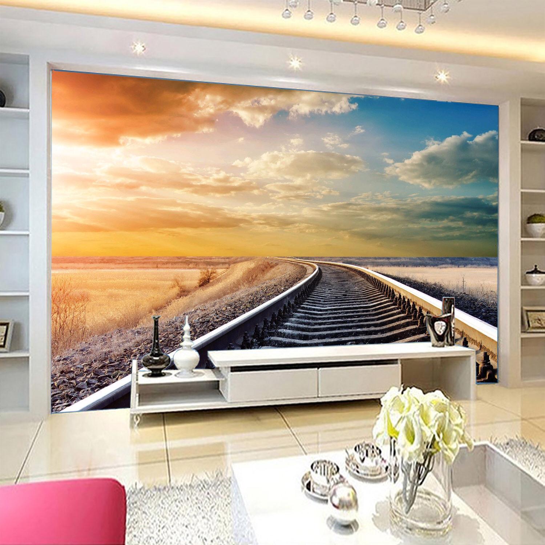 3D Sky Cloud Orbit 86 Wallpaper Mural Paper Wall Print Wallpaper Murals UK Lemon