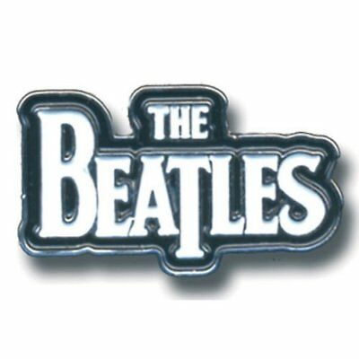 The Beatles Drop T Band Logo Metal Pin Badge White Black Background Official Ebay