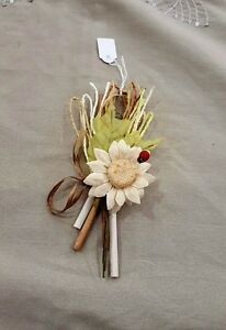 Segnaposto Matrimonio Girasole.Bomboniera Matrimonio Segnaposto Bouquet Girasole Con Coccinella
