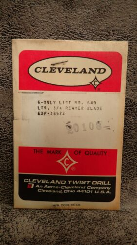 """CLEVELAND C38572 Size /""""3//A/"""" Extra HSS Blades for Adj Hand Reamers 1-5//8/"""" LOC 6"""