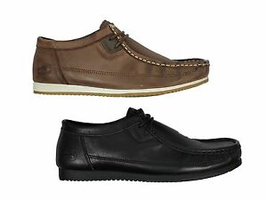 Image is loading MENS LEATHER SHOES NICHOLAS DEAKINS CONSUMER BLACK BROWN