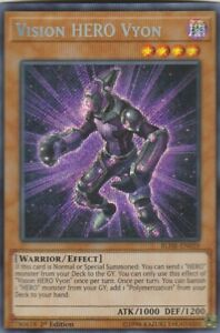 YUGIOH-HOLO-CARD-1-X-VISION-HERO-VYON-BLHR-EN059-1ST-EDITION