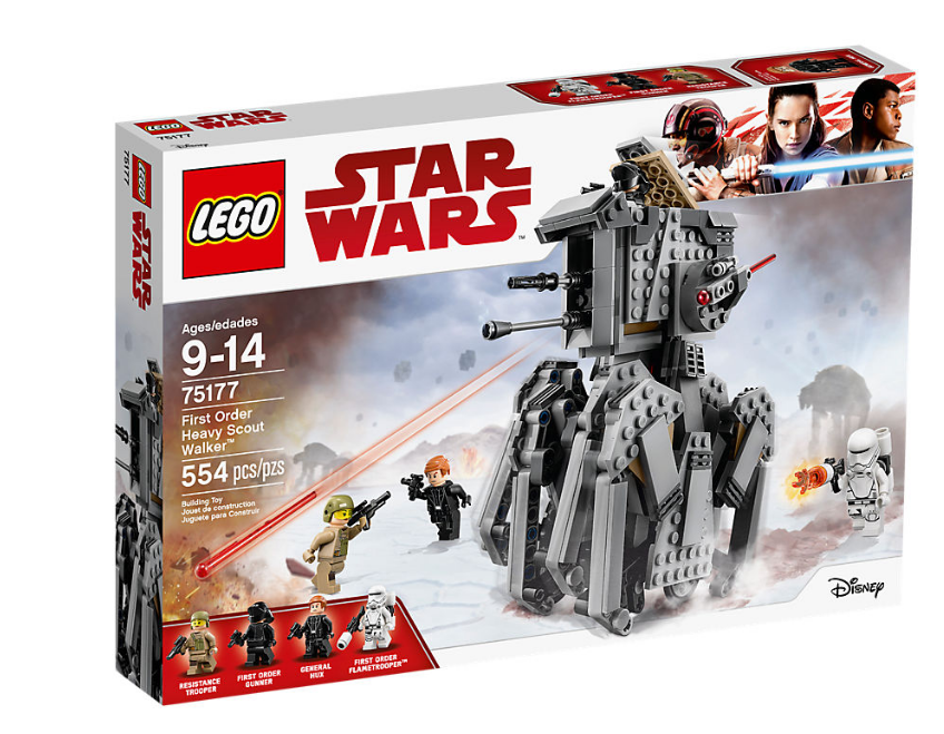 LEGO STAR WARS 75177 FIRST ORDER HEAVY SCOUT WALKER NOVEDAD NEW