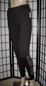 Secret oro Logo Gambali Victoria's Sport nero Nwt Xs stretti glitter in 5Oqfwx0gn