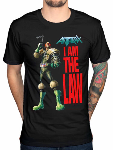 Official Anthrax I Am The Law Robot T-Shirt Rock Amoung The Living Fistful Of Fa