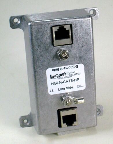 L-Com HyperLink Ethernet High Power CAT6 Indoor Lightning Surge Protector