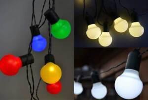 led lichterkette au en wei e o bunte kugeln 20 o 50 leds partylichterkette ebay. Black Bedroom Furniture Sets. Home Design Ideas