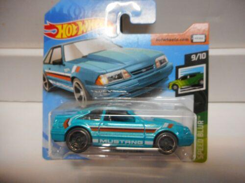 FORD MUSTANG 1992 BLUE//GREEN,ART CARS HOT WHEELS 1:64