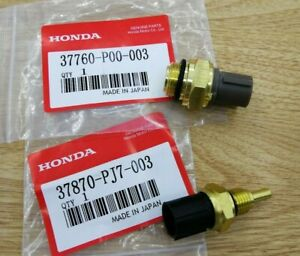 Details about OEM Set of 2 Cooling Fan Switch Coolant Temp Sensor Fit Honda  Accord CR-V Civic