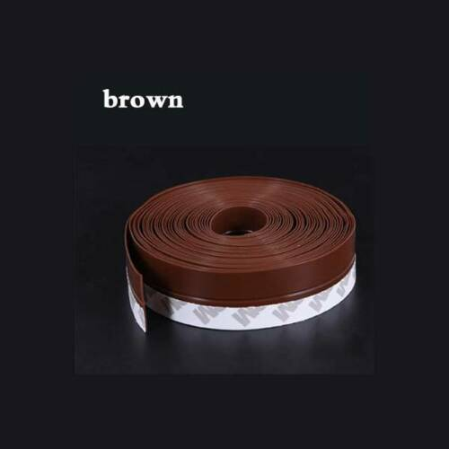 Door Window Bottom Rubber Seal Strip Sweep Weather Frameless Self Adhesive Hot