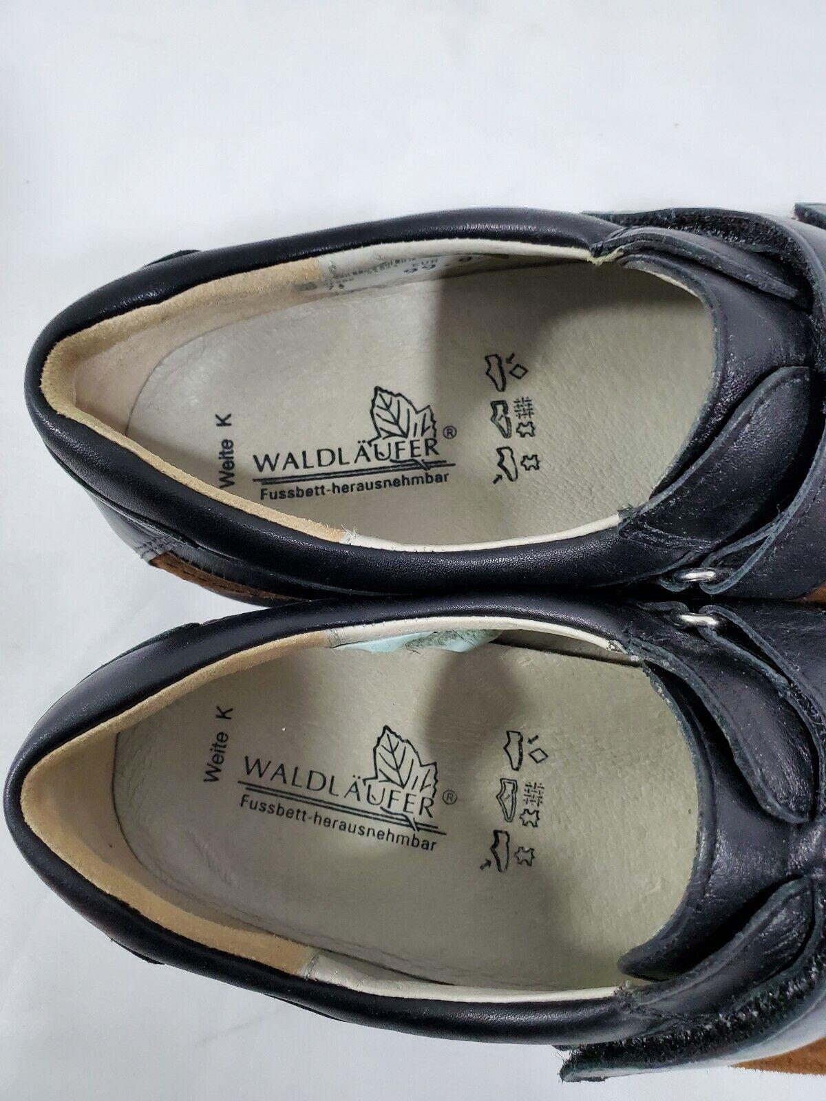 WALDLAUFER Womens 10 Suede Oxfords Brown Black Comfort Career Casual Work Shoes