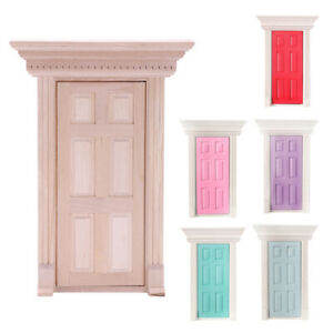 1-12-Scale-Wooden-Fairy-Front-Door-Dolls-House-Miniature-Accessory-K7W6