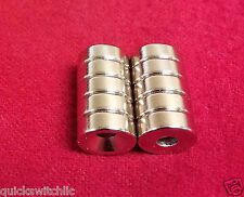 10 Strong Round Refrigerator Ring Magnet 10 X 3mm Hole 4mm Rare Earth Neodymium