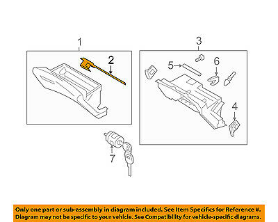 Infiniti OEM 11-13 M56-Glove Box Lock 686301MA2C