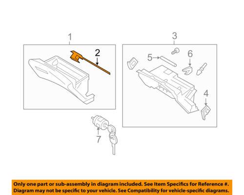 Infiniti NISSAN OEM 14-16 Q70-Glove Compartment Box Lock 686301MA2B