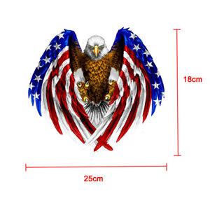 Cool-Bald-Eagle-USA-American-Flag-Car-Accessories-Bumper-Window-Decal-Sticker-x1