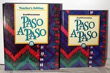 Scott Foresman Paso A Paso B Set Teacher Edition and student text  Free Shipping