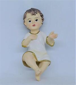 GESU' Bambino PRESEPE 10 cm Statua Baby Jesus ADDOBBI Natale bambinello 25418