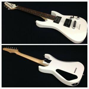 Skylark-34-034-Traveler-Electric-Guitar-w-HH-Pickups-Gloss-White-Free-Gig-Bag-Picks