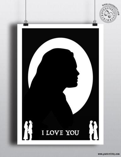 THE PRINCESS BRIDE AS YOU WISH Silhouette head Minimalist Movie Poster Minimal