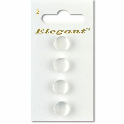 White 11mm Buttons Sewing Craft Knitting Fashion Shank 4 Per Card