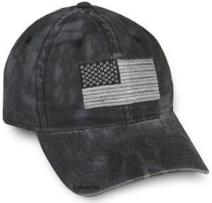 ef3da60fb150e Image is loading Kryptek-Camo-Americana-Tonal-Flag-Cap-Typhon-Black