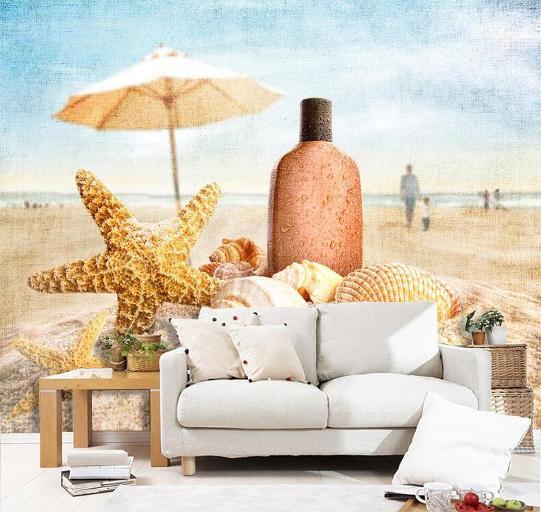 3D Pretty Beach Treasures 2 Wall Paper Print Decal Wall Deco Indoor wall Mural