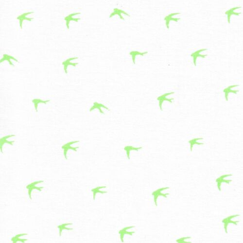 Chambray Swallows Cotton Fabric Dressmaking Shirting Denim Oxford Bird Children