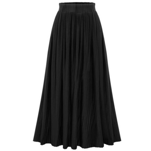 Women/'s SKIRT Long Maxi High Waist Summer Pleated Beach Skirt Dress