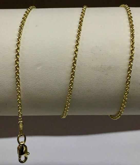 """14k Yellow Gold Cable Link Pendant Chain//Necklace 24/"""" 2.2mm 3.5 grams RCAB60"""