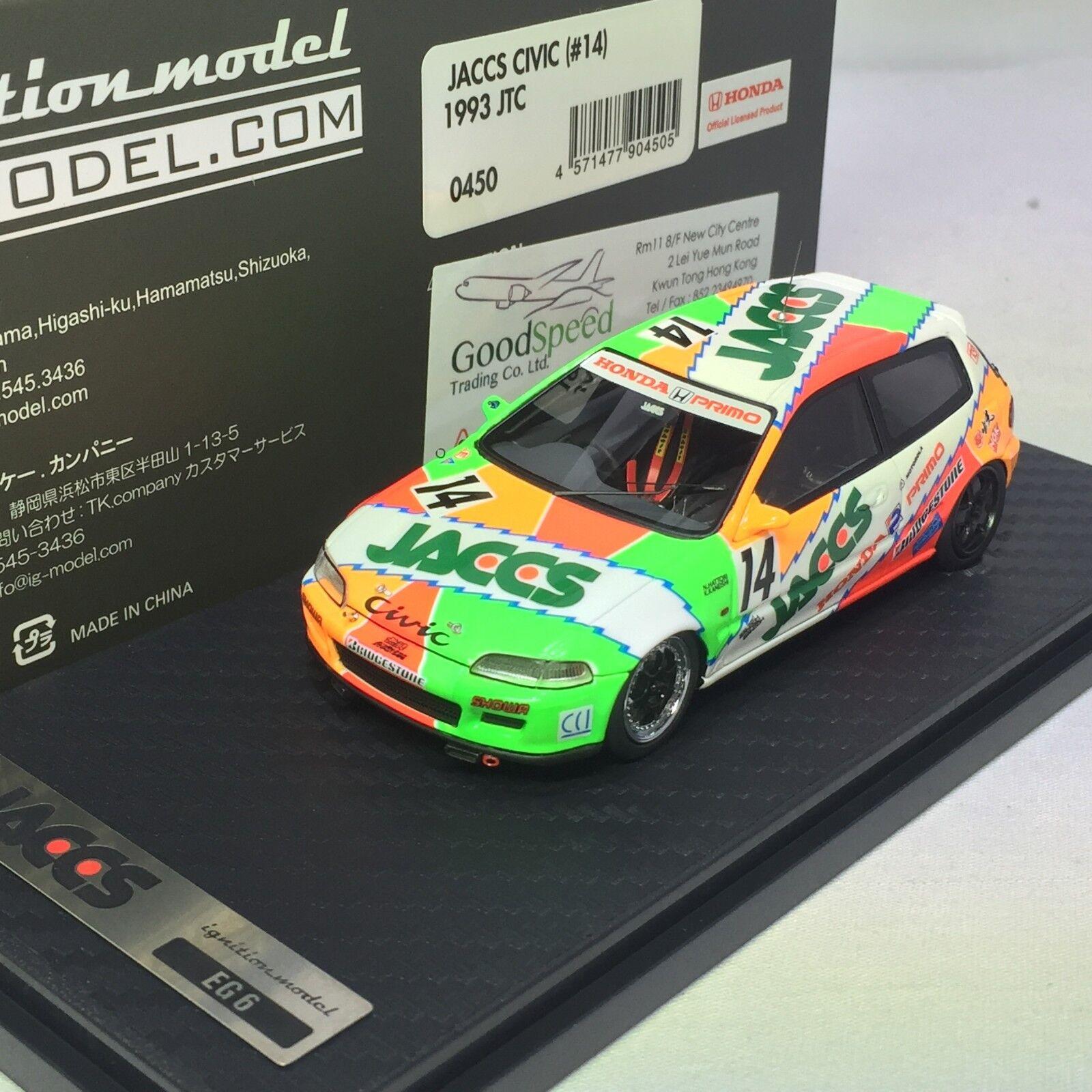 1 43 d'allumage Honda CIVIC Vtech  14 EG6 1993 JTC jaccs Honda Primo  IG0450