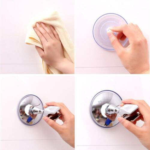 ABS Adjustable Attachable Bathroom Shower Head Holder Wall Suction Cup Bracket l