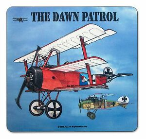 The-Dawn-Patrol-WW1-WWI-Airplane-Mouse-Pad-with-Fokker-Triplane-and-Albatross