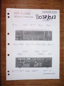 Service-manual Kenwood Kr-a3060 Receiver,original Anleitungen & Schaltbilder