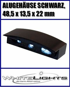 DEL-plaque-d-039-immatriculation-plaque-eclairage-Boitier-alu-noir-moto