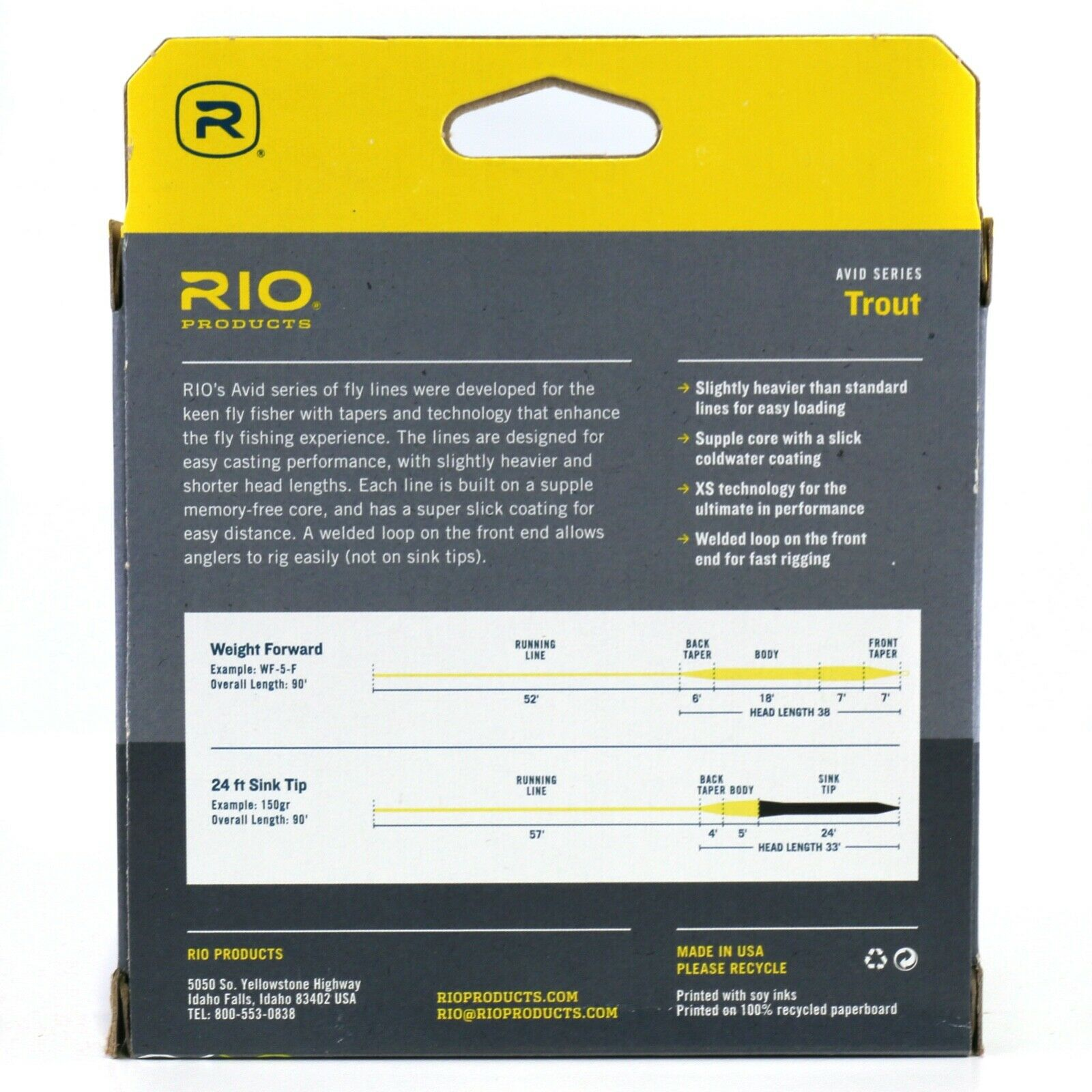 Rio Avid Trout Wf6f Fly Line 90 FT Freshwater for sale online