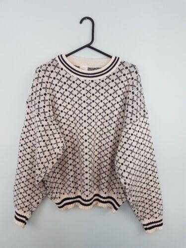 Knit Chunky Icelandic Sweatshirt Retro Vtg Snowflake Uk Jumper Winter M Aztec tqAWwEqTB